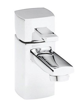 Balterley Cube Mini Basin Mixer Tap With Click Clack Waste