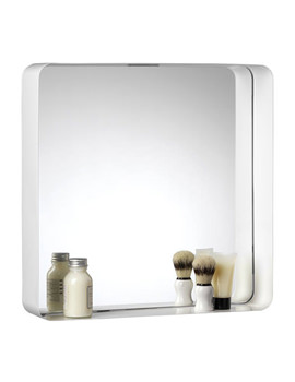 Croydex Barton 450mm Square Steel Box Framed Mirror - MM701722