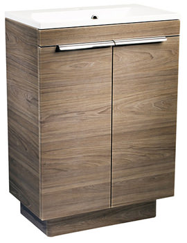 Cypher Dark Elm 600mm Freestanding Unit With Basin