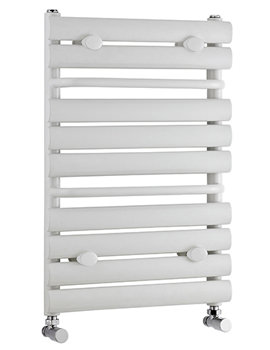 Lauren Heated Towel Rail Radiator White 445 x 650mm - MTY081