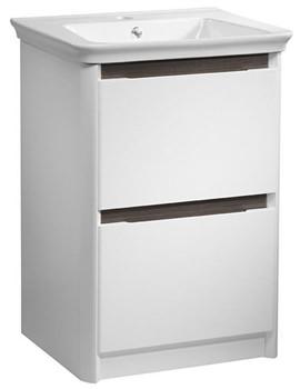 Equate 700mm White-Grey Oak Freestanding Unit And Basin