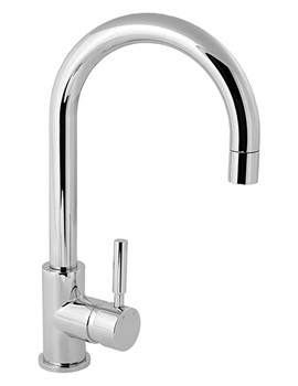 Deva Vision Mono Kitchen Sink Mixer Tap With Arch Spout - VSN104