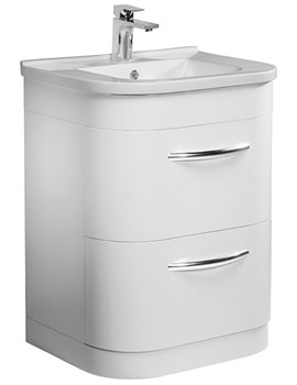Desire 600mm White Freestanding Unit Including Basin