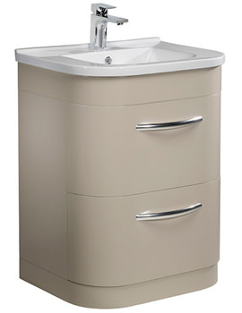 Desire 600mm Putty Finish Floor Standing Unit And Basin