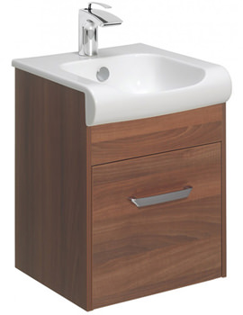 Essence 400mm Wall Hung Walnut Vanity Unit And Basin
