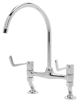 Related Tre Mercati Capri Lever Dual Flow Bridge Pillar Sink Mixer Tap - 3617