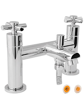 Motif Bath Shower Mixer Tap With 8 Litre Flow - MOT106-HSR8
