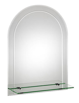 Fairfield Arch Mirror With Shelf 450 X 600mm