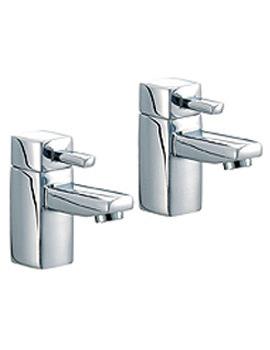 QL Pair Of Chrome Bath Taps - QZ003