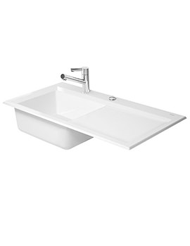 Duravit Kiora 60 XL Built-In 1000x510mm Kitchen Sink - 7521100000