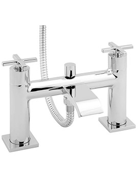 Crux Deck Mounted Bath Shower Mixer Tap Chrome - CRUX106