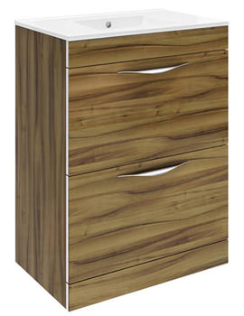 Memoir Walnut 600mm Floor Standing Vanity Unit-CAB172