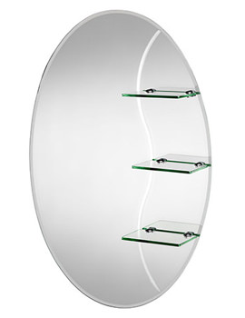 Coniston Oval Mirror With Shelves 500 X 750mm - MM700200