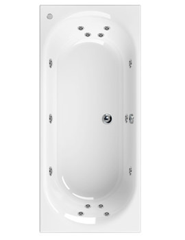 Aquaestil Metauro 3 Double Ended 1800 x 800mm 14 Jets Whirlpool Bath