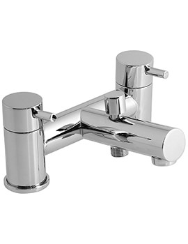 Zoo Deck Mounted 2 Hole Bath Shower Mixer Tap - ZOO-130-C-P