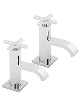 Crux Bath Taps Chrome - CRUX102