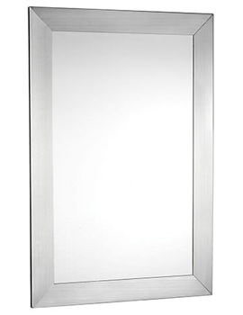 Parkgate Rectangular Mirror With Brushed Stainless Steel Frame