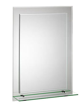 Croydex Devoke Rectangular Double Layer Mirror With Shelf - MM700300