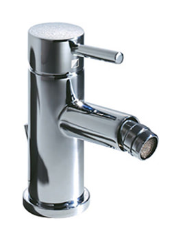 Storm Bidet Mixer Tap With Pop Up Waste Chrome - T222002