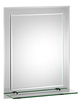 Croydex Rydal Rectangular Double Layer Mirror With Shelf - MM700800