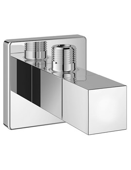 Eurocube Wall Mounted Chrome Angle Valve Half Inch - 22012000