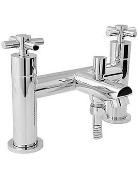Motif Deck Mounted Bath Shower Mixer Tap Chrome - MOT106