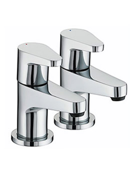 Quest Chrome Bath Taps - QST 3/4 C