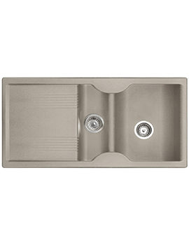 Related Rangemaster Lunar 1.5 Bowl Neostone Granite Oatmeal Kitchen Sink