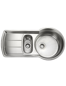 Keyhole 1.5 Bowl Stainless Steel Kitchen Sink - KY10002