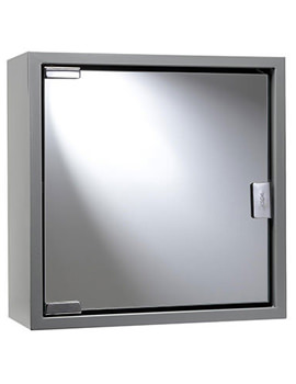 Anthracite Coloured Steel Mirror Cabinet - WC870231