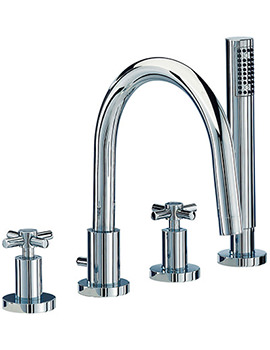 Series C 4 Hole Bath Shower Mixer Tap With Shower Kit - SCX047