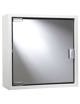 Croydex White Coloured Steel Mirror Cabinet - WC870222