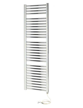 Napoli Straight Sealed Electric White Towel Rail 600 x 1100mm