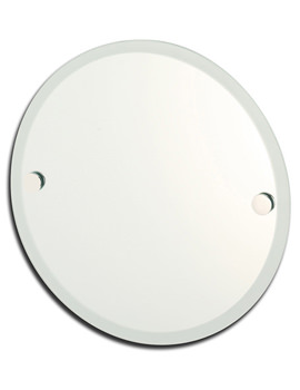 Lincoln Round Mirror With Frosted Edge