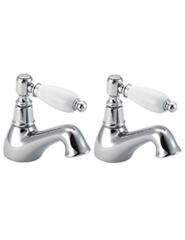 Georgian Pair Of Bath Tap Chrome