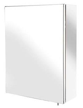 Croydex Tara Stainless Steel Single Sliding Door Mirror Cabinet