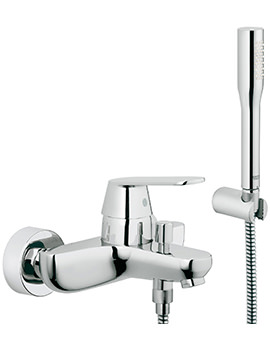Eurosmart Cosmo Wall Mounted Bath Shower Mixer Tap With Kit