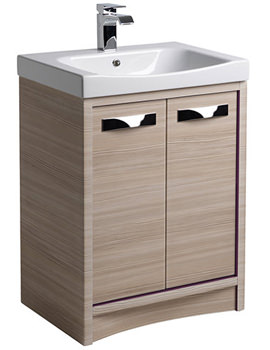 Breathe 600mm Freestanding Unit Pale Driftwood And Basin