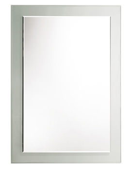Bevelled Level Glass Mirror With Clear Frame - MPS401