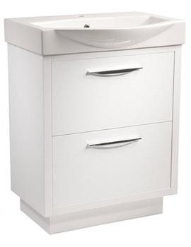 Studio 650mm White Gloss Freestanding Unit And Basin