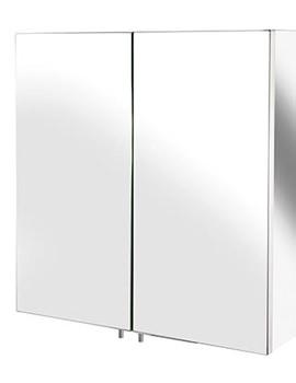 Croydex Avon Stainless Steel Double Door Small Mirror Cabinet