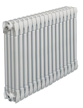 Monza White Horizontal 4 Column Radiator 600 x 670mm
