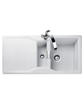 Magma 1.5 Bowl Igneous Granite Sink - Crystal White Finish