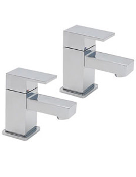 Edge Pair Of Bath Tap Chrome - 22320