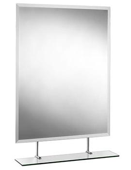 Croydex Helton Rectangular Mirror With Under Shelf 650 X 950mm