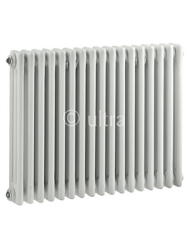 Colosseum Triple Column 786 x 600mm White Radiator - HX305
