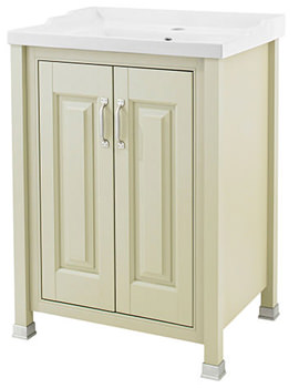 Old London Pistachio 600mm Vanity Unit And Inset Basin - NLV203