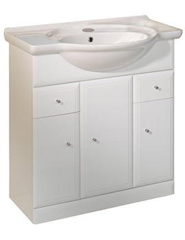 Valencia 800mm Freestanding Unit Including Basin - VB800W