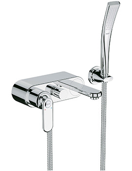Veris Wall Mounted Single Lever Bath Shower Mixer Chrome