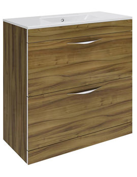 Memoir Walnut 800mm Floor Standing Vanity Unit-CAB176